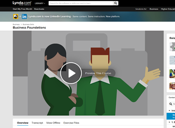 LinkedIn Learning - Business Foundations