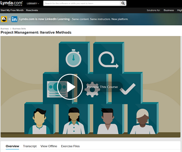 LinkedIn Learning - Project Management Iterative Methods